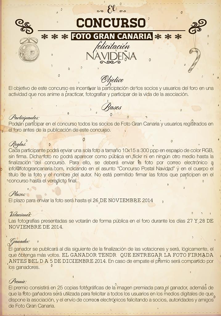 Cartel Concurso Postales 2014